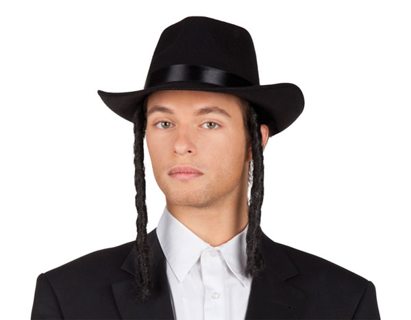 Rabbi Hat Orthodox Jew Hats With Curls Accessory Costume