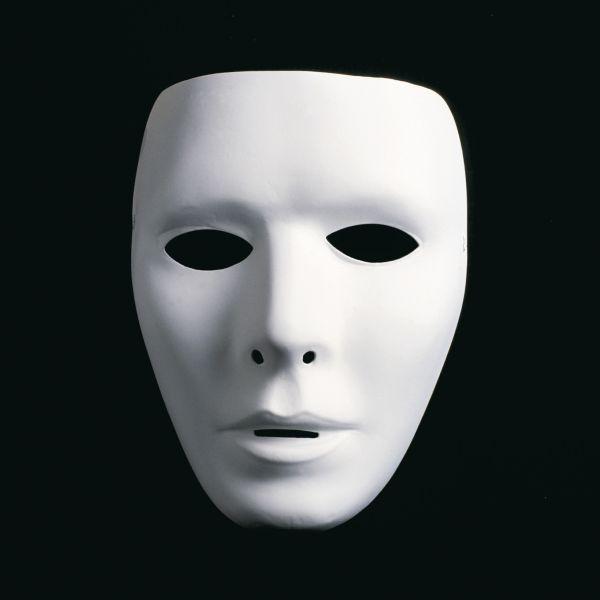 Weisse-Maske-maskulin-Faschingsmaske-Phantommaske-Masken