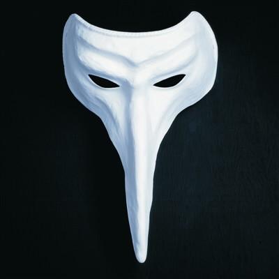 weisse maske schnabelmaske zum bemalen dottore domino. Black Bedroom Furniture Sets. Home Design Ideas