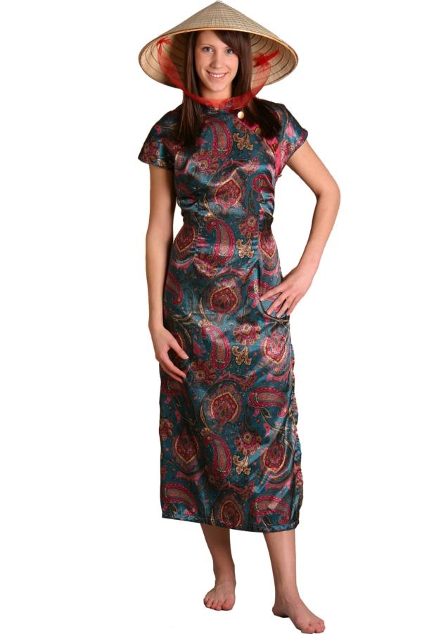 geisha kimono asia kleid chinesische kleider china damen frauen kleidung japan ebay. Black Bedroom Furniture Sets. Home Design Ideas