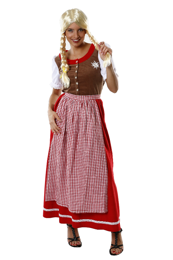 dirndl kleid f r oktoberfest damenkost m verkleidung. Black Bedroom Furniture Sets. Home Design Ideas