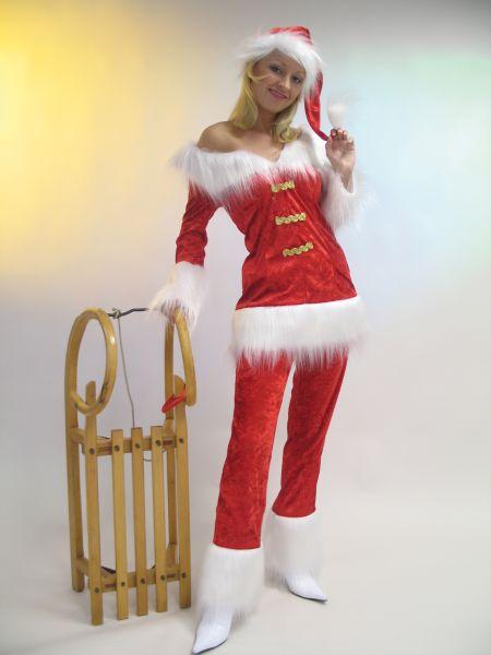 nikol usin weihnachtsfrau kost m weihnachten anzug rot mit. Black Bedroom Furniture Sets. Home Design Ideas