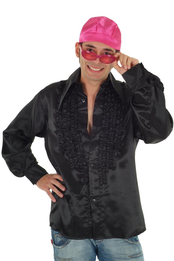 schlagerhemd party hemd schwarz r schenhemd 80er jahre schlagerparty outfit neu ebay. Black Bedroom Furniture Sets. Home Design Ideas