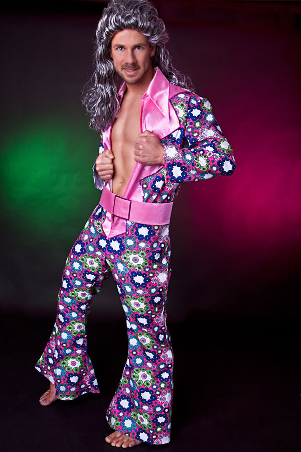 hippie overall herren kost m disco outfit 70er 80er jahre. Black Bedroom Furniture Sets. Home Design Ideas