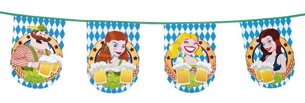 Oktoberfest-Deko-Wimpelkette-Bayern-Wimpel-Kette-Festzelt-Dekoration-Fasching