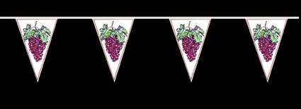 Weintrauben h nge deko dekoration weinfest wimpelkette for Festzelt dekoration