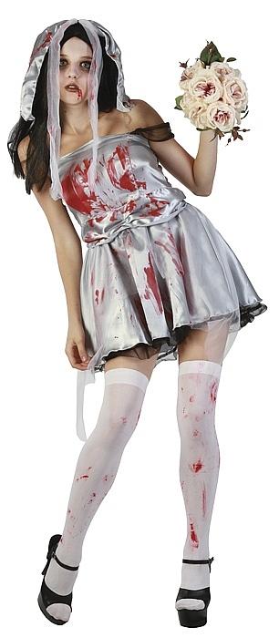 halloween kost me damen horror braut zombiebraut zombiekost m frauenkost m w o w ebay. Black Bedroom Furniture Sets. Home Design Ideas