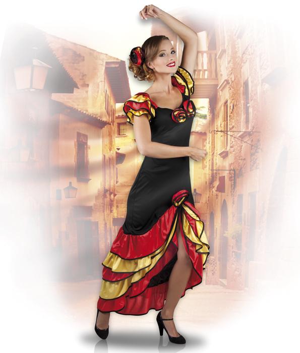 spanierin kost m spanisches kleid mottoparty spanische nacht spanien t nzerin ebay. Black Bedroom Furniture Sets. Home Design Ideas