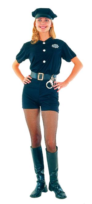 sexy polizistin polizei kost m blau komplett jga. Black Bedroom Furniture Sets. Home Design Ideas