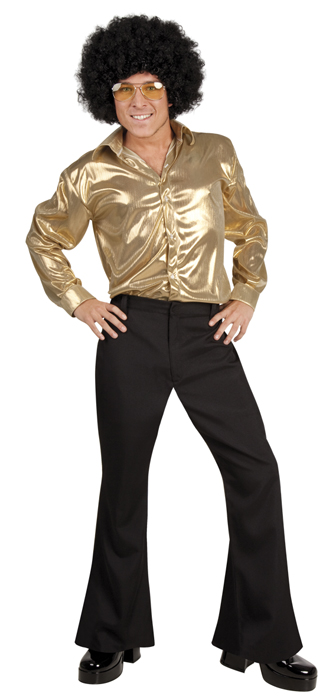 discohemd 70er 80er jahre party herrenhemd gold sexy disco outfit fasching party ebay. Black Bedroom Furniture Sets. Home Design Ideas