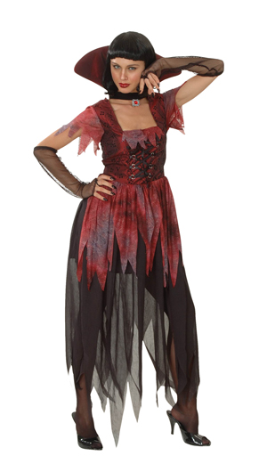 gothic vampir kost m damen vamp gotik gothickost m frau ebay. Black Bedroom Furniture Sets. Home Design Ideas