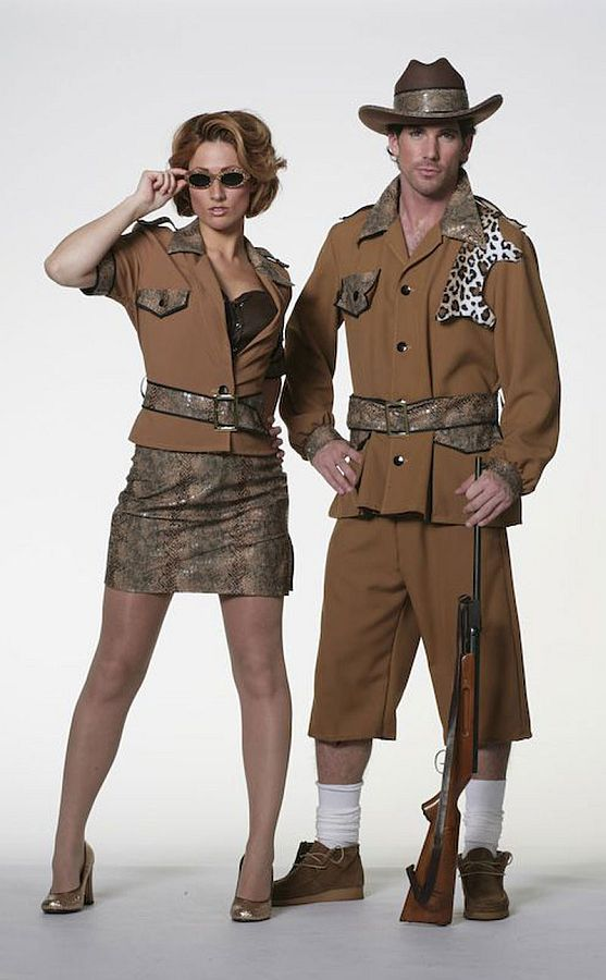 Sexy Damenkostum Kleid Safari Damenkleid Jagd Fasching Karneval