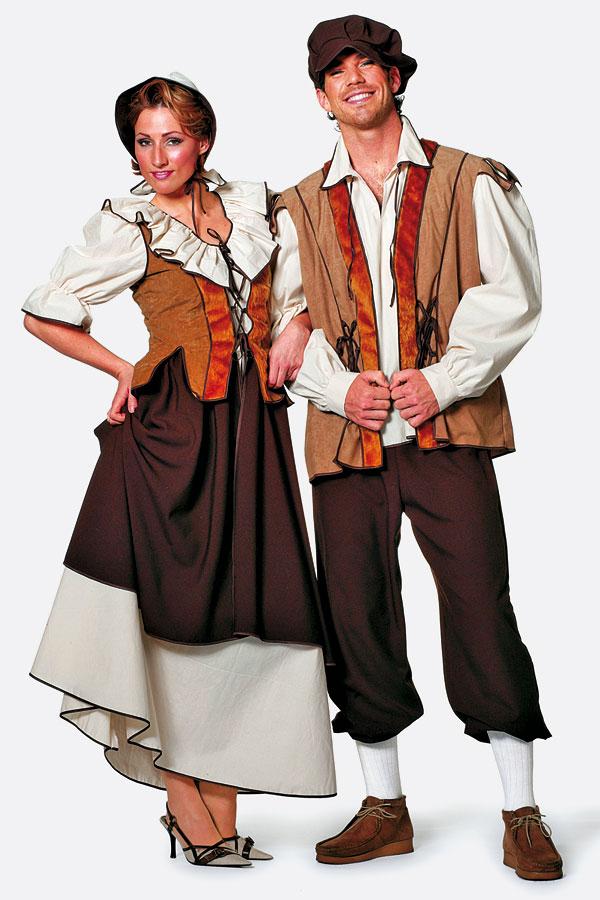 Mittelalterliche-Dame-Kostuem-Fasching-Karneval-Burgfest-Bauern-Kleid-Magd-Dame
