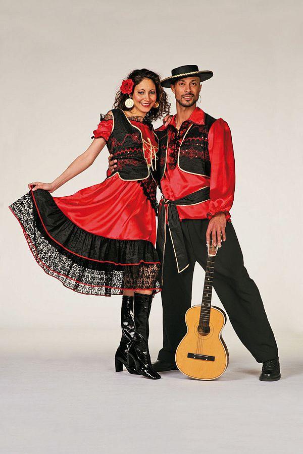 spanierin damen kost m sexy flamenco kleid spanische nacht spanisches kost m ebay. Black Bedroom Furniture Sets. Home Design Ideas
