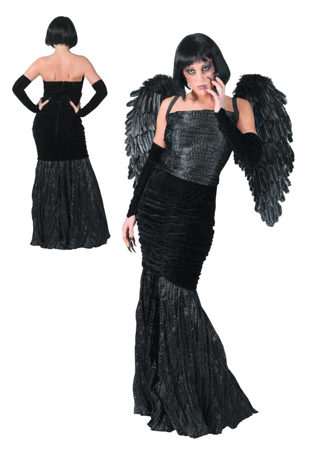 engelskost m f r damen in schwarz engel fasching halloween damenkost me kost me. Black Bedroom Furniture Sets. Home Design Ideas