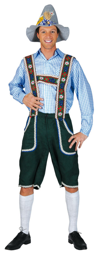 trachtenhose herren oktoberfest hose kniebundhose gr n ebay. Black Bedroom Furniture Sets. Home Design Ideas