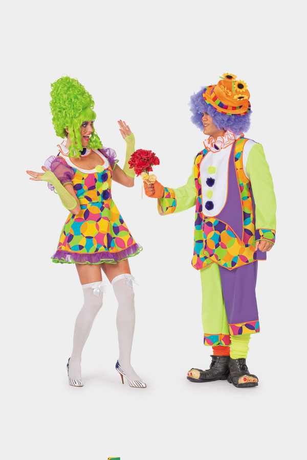 sexy clown clownskost me damen kost me fasching mottoparty 70er 80er jahre neu ebay. Black Bedroom Furniture Sets. Home Design Ideas